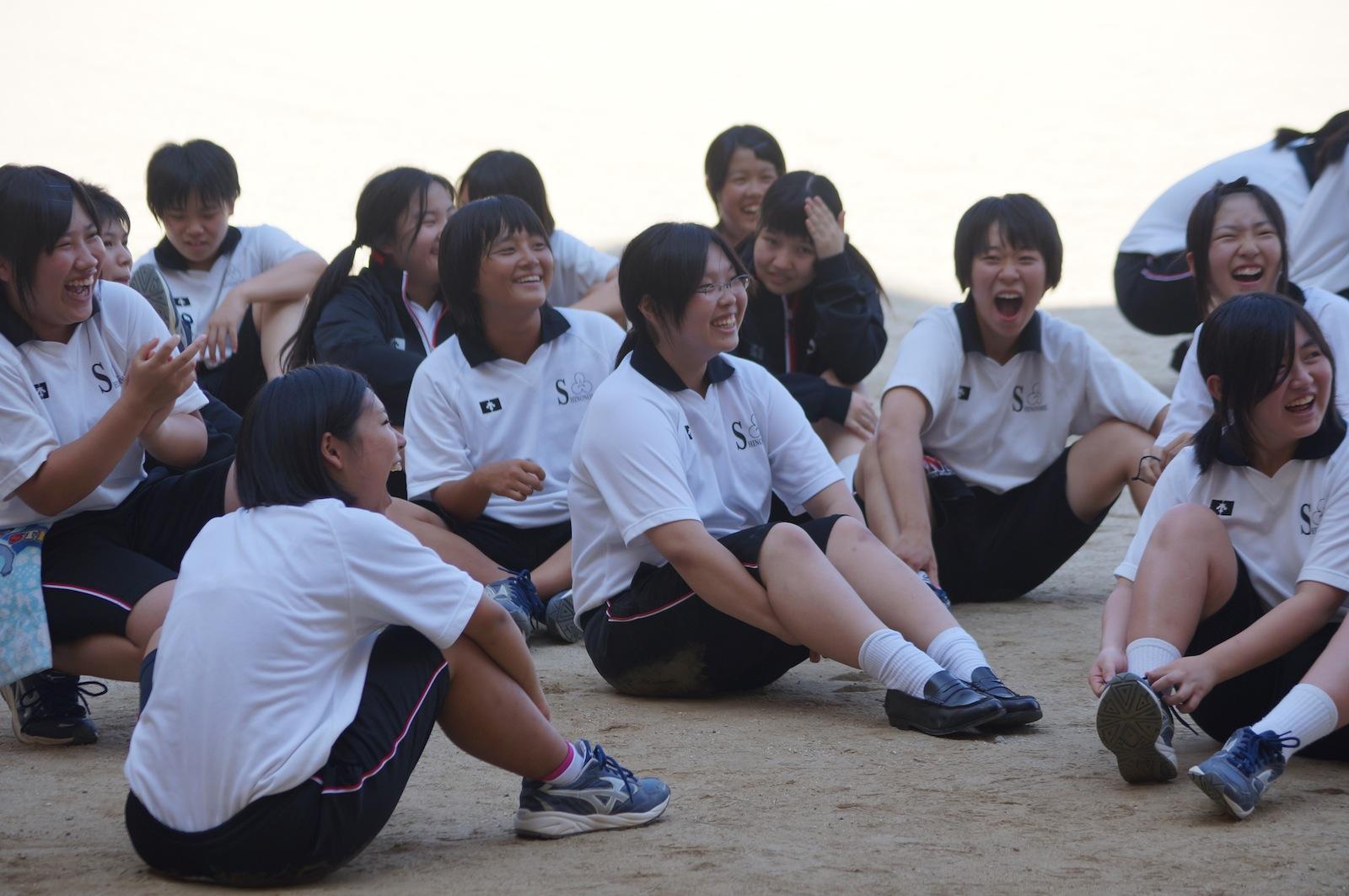 応援合戦の練習!: 今日の東雲 : 英語で中学生 : 中学
